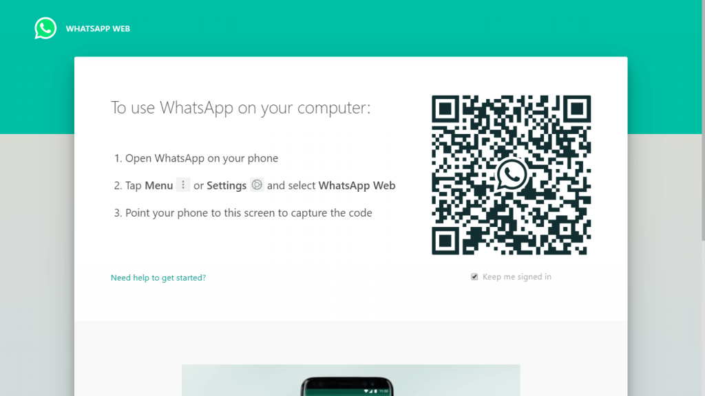 "alt=""conect whatsapp web to phone"""