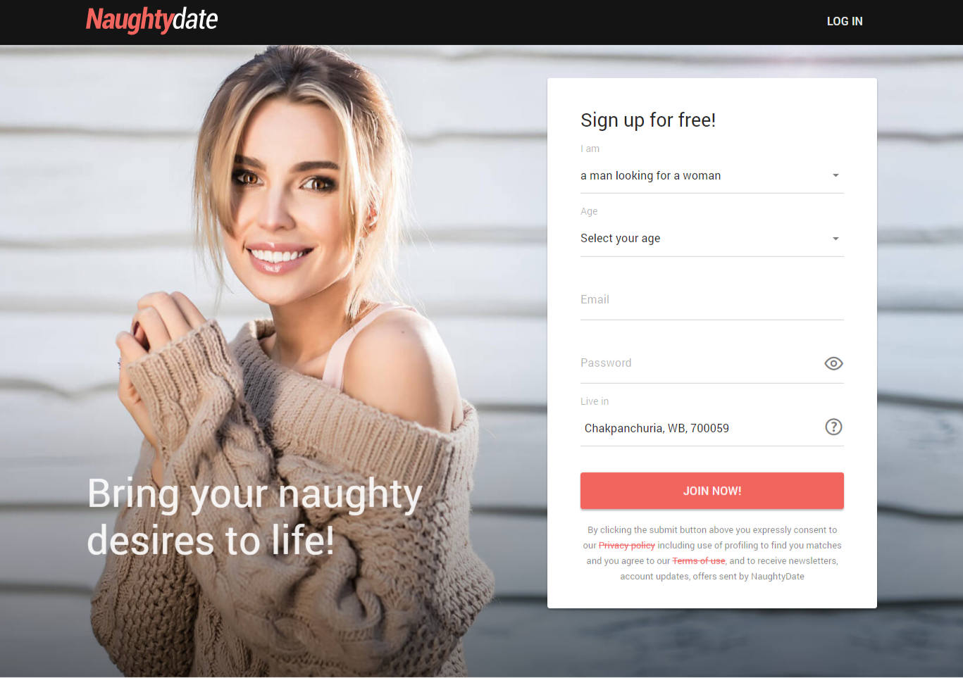 how to delete naughtydate account, cancel account