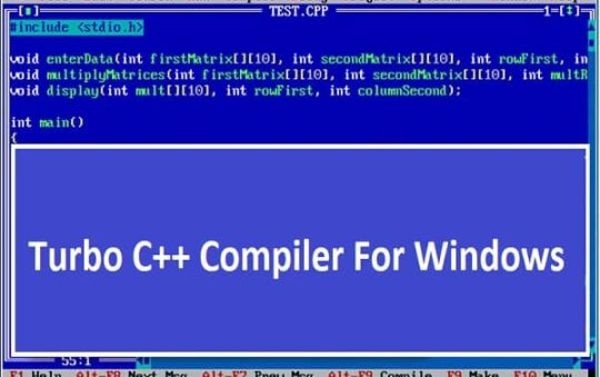 Turbo C++ Compiler For Windows 10